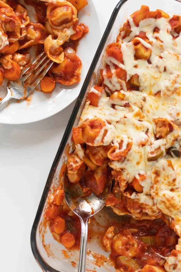 Cheesy Veggie Tortellini Bake