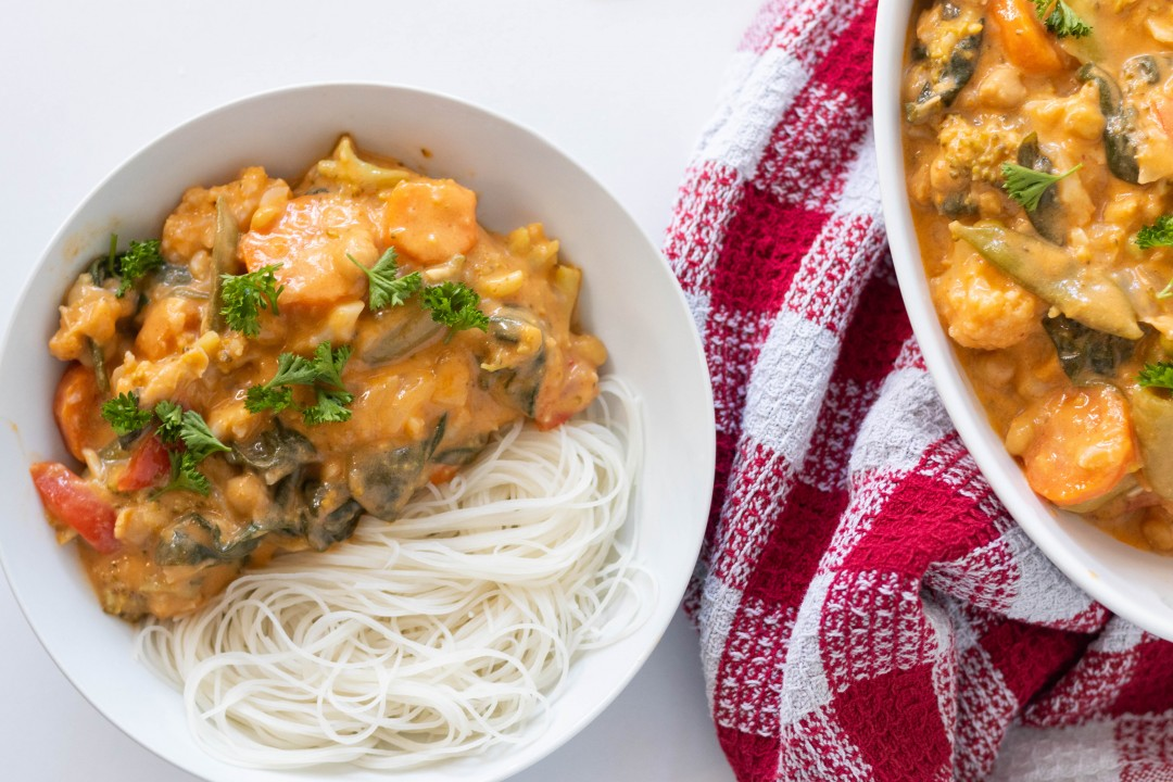 Chickpea Thai Red Curry