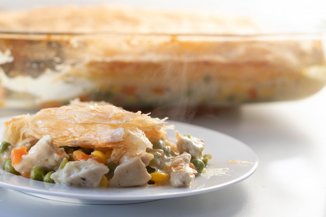 Easiest Chicken Pot Pie (Puff Pastry)