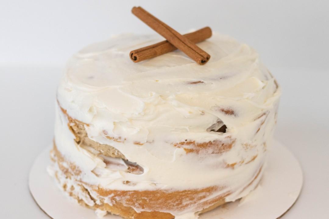 """Giant Cinnamon Bun """"Cake"""""""
