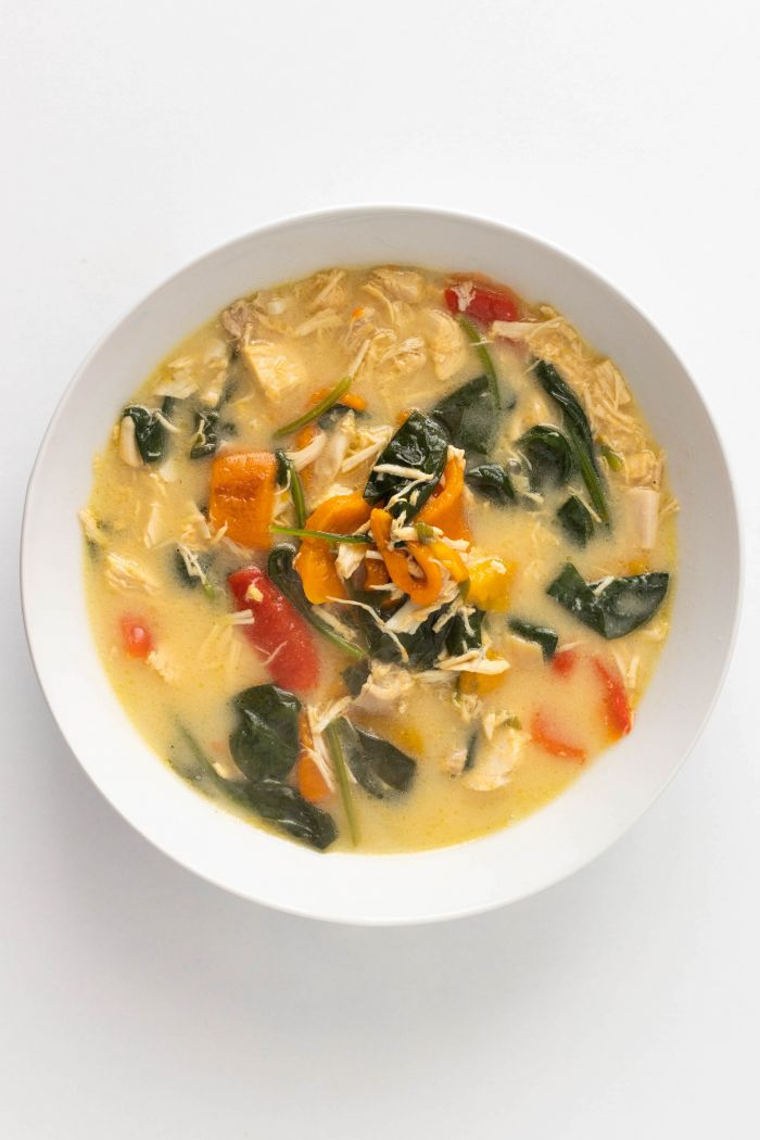 Roasted Pepper and Chicken Soup