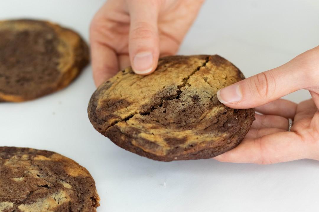 Salted Chocolate Peanut Butter Mega Cookies