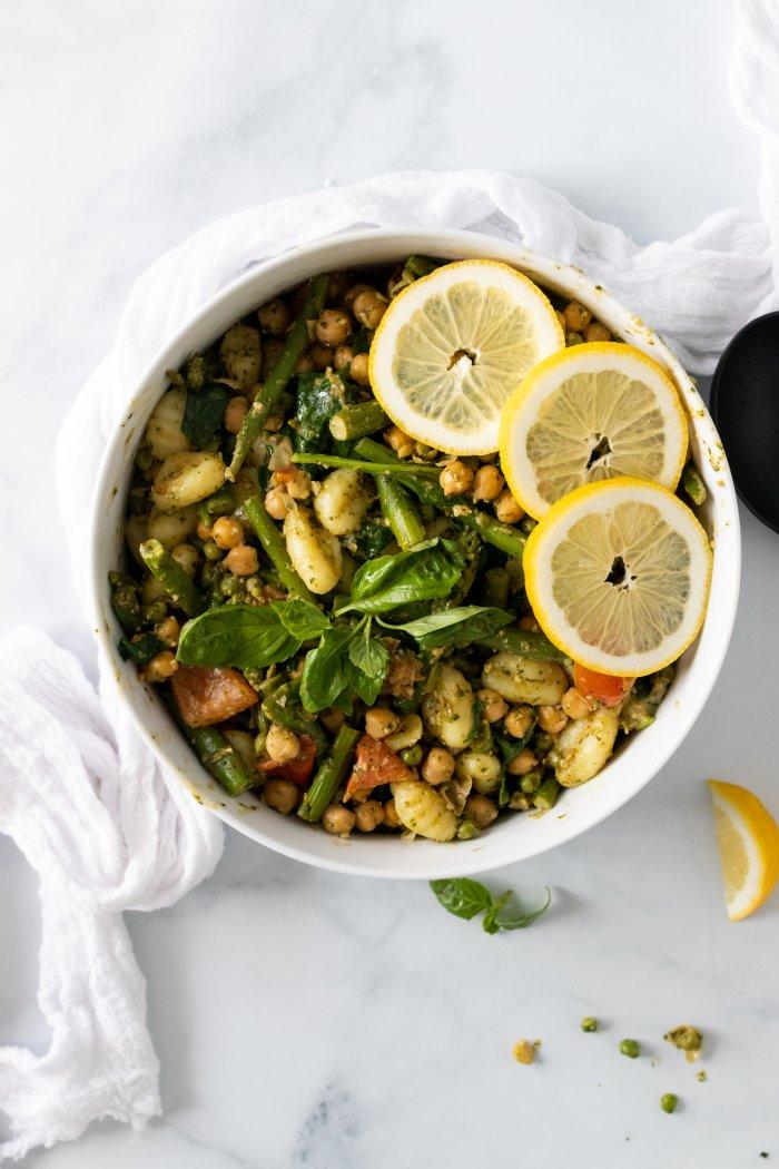 Vegetarian Gnocchi with Lemon Basil Pesto Sauce